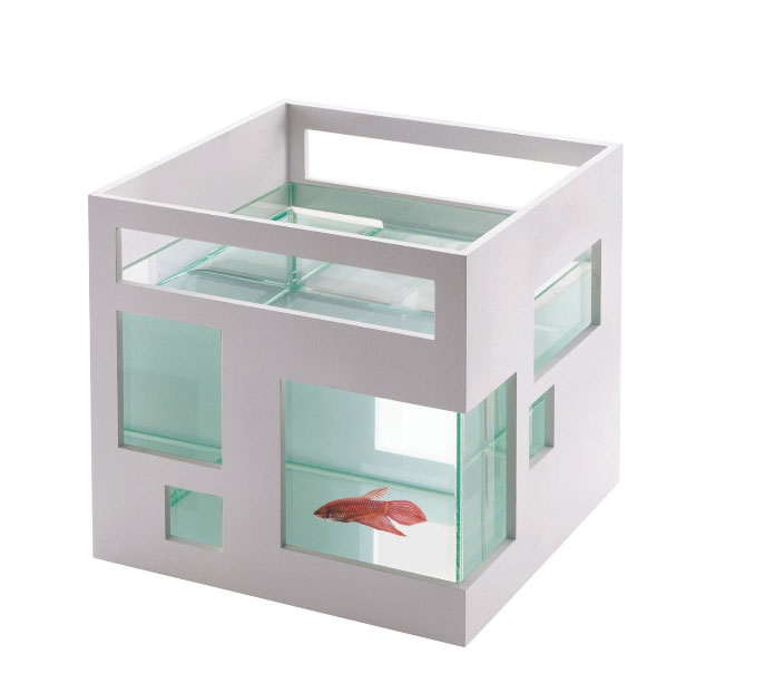 A modern designed fishhotel aquarium the pet furniture store for Fish furniture outlet