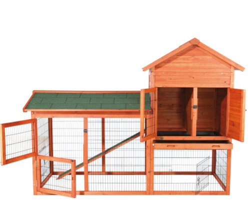Rabbit Hutch With Outdoor Run And Rest Area The Pet