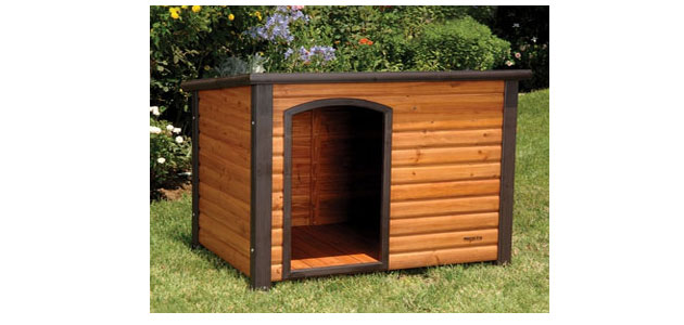 Outdoor log cabin for your dog the pet furniture store for Log cabin furniture store