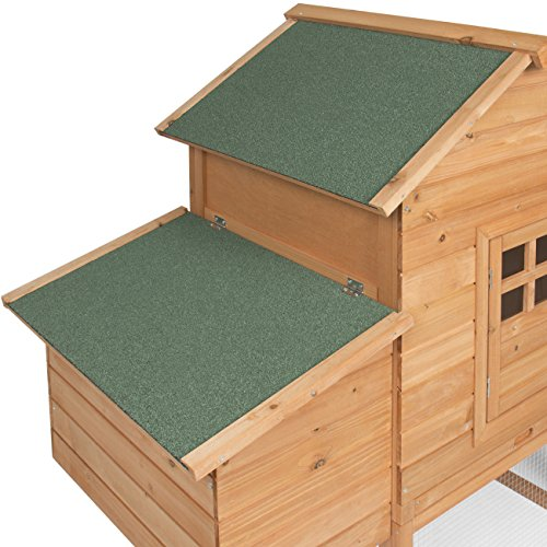 Best Choice Products 75u2033 Wooden Chicken Coop Backyard ...