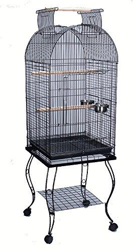 Bird-Parrot-Cage-Cockatiel-Amazon-African-Grey-Caique-Conure-20-X-20-X-65h-0