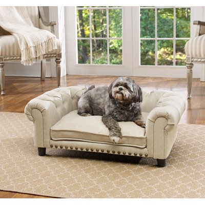 Merveilleux Enchanted Home Pet Melbourne Linen Tufted Pet Sofa