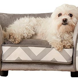 Enchanted Home Pet Cliff Bed Ultra Plush Pet Bed 34 5 L By 22 5 W Grey The Pet Furniture Store