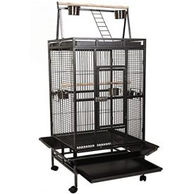 Giantex-Bird-Cage-Large-Play-Top-Parrot-Finch-Cage-Macaw-Cockatoo-Pet-Supplies-Black-0