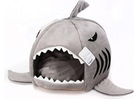 Grey-Shark-Bed-for-Small-Cat-Dog-Cave-Bed-Removable-Cushionwaterproof-Bottom-Most-Lovely-Pet-House-Gift-for-Pet-0