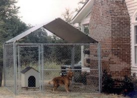 King-Canopy-Dog-House-Kennel-Cover-10-by-10-Feet-Silver-0