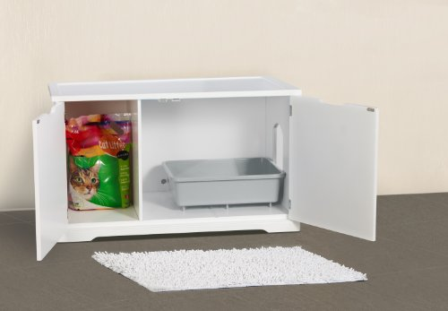 Merry Products Cat Washroom Bench White The Pet