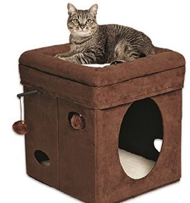 MidWest-Homes-for-Pets-Curious-Cat-Cube-Brown-Suede-0