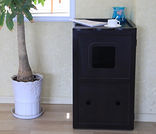 Petsfit-21x25x35-Inches-Espresso-Double-Decker-Pet-House-Litter-Box-Enclosure-Night-Stand-Painted-With-Non-Toxic-0-0