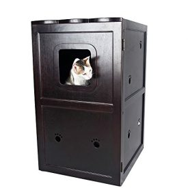 Petsfit-21x25x35-Inches-Espresso-Double-Decker-Pet-House-Litter-Box-Enclosure-Night-Stand-Painted-With-Non-Toxic-0