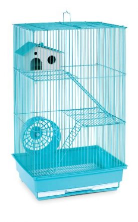 Prevue-Hendryx-SP2030G-Three-Story-Hamster-and-Gerbil-Cage-Mint-Green-0