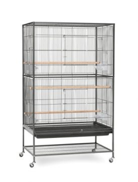 Prevue-Pet-Products-Wrought-Iron-Flight-Cage-with-Stand-F040-Black-Bird-Cage-31-Inch-by-20-12-Inch-by-53-Inch-0