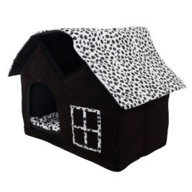 SKL-Luxury-High-end-Double-Pet-Houseblack-Dog-Room-Cat-Bed-55-X-40-X-42-Cm-0