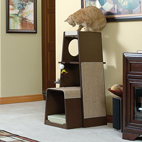 Sauder 416819 Modular Modern Cat Tower The Pet Furniture