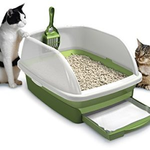meow town mdf litter box. purina tidy cats breeze litter system starter kit - (1) box meow town mdf