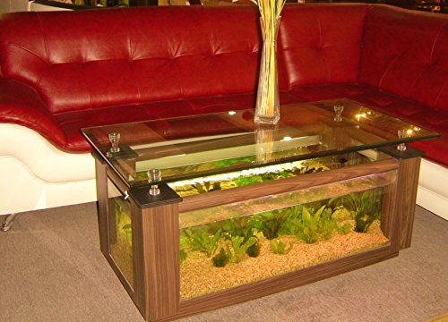 36gl rectangle coffee table aquarium completely fish for Fish furniture outlet