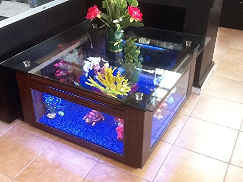 68 gallon square coffee table aquarium fish ready with for Square fish tank