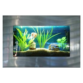 Bayshore-Aquarium-B1SSLVR-Medium-Rectangular-Wall-Aquarium-Silver-0