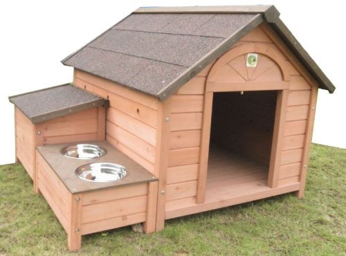 Dh 12 dog house outdoor indoor wooden dog house the for Dog house plans pdf