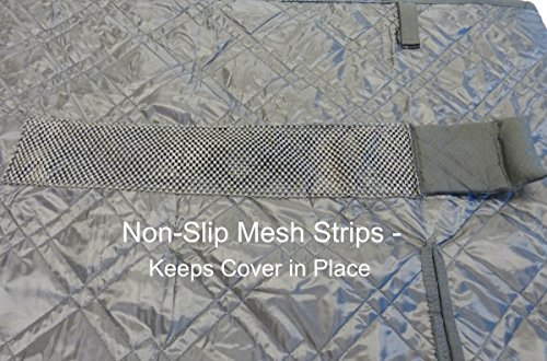 Fabric Panels To Cover Storage Area : Deluxe quilted and padded seat cover with non slip fabric