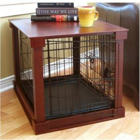Indoor-Wooden-Mobile-Dog-Pet-Cage-With-Crate-Cover-Side-Panels-Table-Medium-0