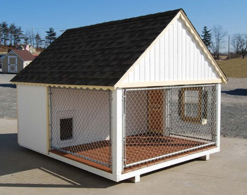 Little cottage company cape cod cozy kennel panelized for Country cottage kennel
