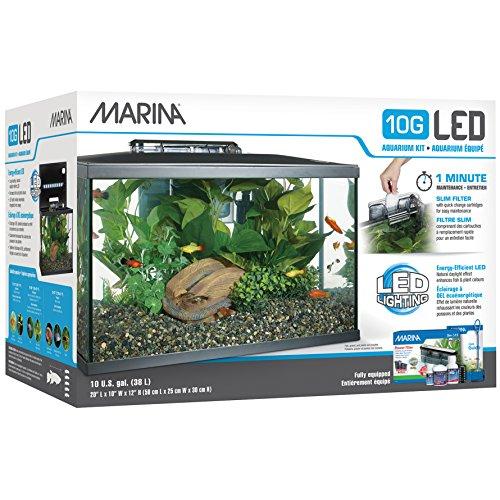 Marina led aquarium kit 10 gallon the pet furniture store for 10 gallon fish tank kit