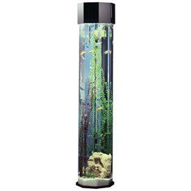 Midwest-Tropical-Octagon-AquaTower-55-Gallon-Aquarium-Set-80-in-0