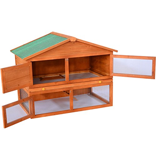 Backyard Wooden Rabbit  Small Animal Hutch  The Pet Furniture Store