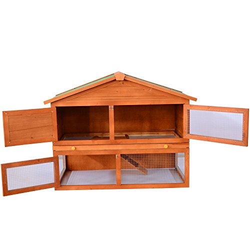 Backyard Furniture Store :  Backyard Wooden Rabbit  Small Animal Hutch  The Pet Furniture Store