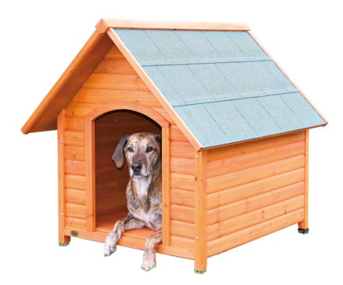 Trixie pet products log cabin dog house x large the pet for Trixie dog house insulation