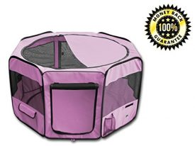 YoYo-Moon-45-Pet-Puppy-Dog-Playpen-Exercise-Puppy-Pen-Kennel-600d-Oxford-Cloth-Pink-0