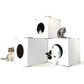 4-Pack-Corrugated-Cardboard-Cat-Box-Grey-Wood-Cat-Condo-Cat-Condos-Cat-Condos-For-Cats-White-0