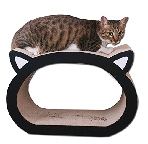 Cat headed shape ultimate cat scratcher lounge bed by kedera the pet furniture store - Cat bed scratcher ...