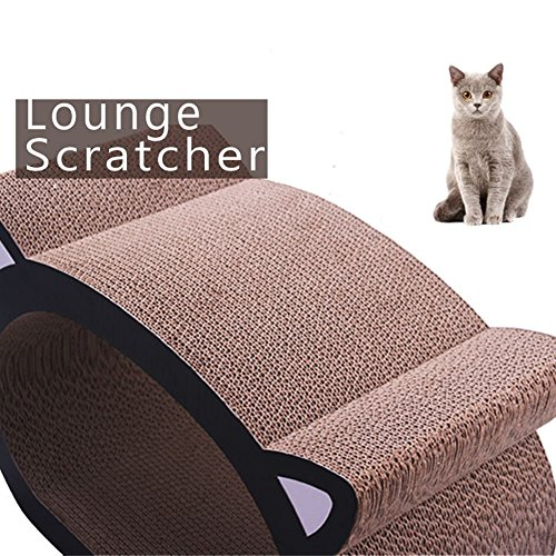Cat Headed Shape Ultimate Cat Scratcher Lounge Bed By