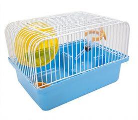 FATPET-Pet-Portable-Traveler-Cage-for-Small-Animal-Living-Habitat-Hamster-Home-Blue-0
