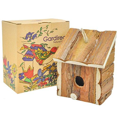 Gardirect Wood Decorative Birdhouse Hanging Wooden Garden