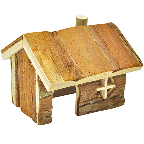 Niteangel log cabin for hamsters gerbils mice and other for Log cabin furniture store