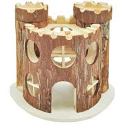 NiteangeL-Natural-Living-Wooden-Castle-Small-Animal-Playground-2-Level-House-0
