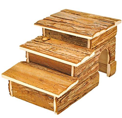 Niteangel Forest Log Cabin for Hamsters Activity