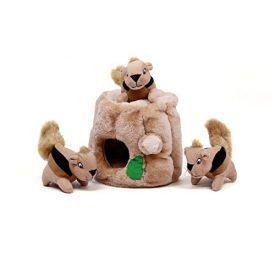 Outward-Hound-Kyjen-31011-Hide-A-Squirrel-Squeak-Toy-Dog-Toys-4-Piece-Large-Brown-0