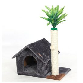 PAWZ-Road-Cat-House-Cat-Tree-Scratching-Post-Cat-Rub-Pad-WJ0202-Grey-0