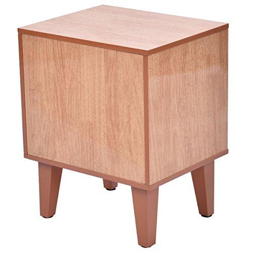 Tangkula Cat Box Cushion Bed Cleaning Enclosure Hidden Pet Cabinet  Furniture Wood