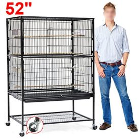 World-Pride-52-Wrought-Iron-Select-Bird-Cage-Parrot-Macaw-Cockatoo-Birdcage-Stands-0