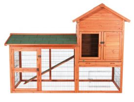 TRIXIE-Pet-Products-Rabbit-Hutch-with-Outdoor-Run-7825-x-365-x-5725-inches-0