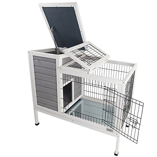 Petsfit 36 lx20 wx30 h rabbit hutch grey guinea pigs cage for Guinea pig dresser cage