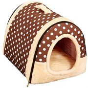Fund-Best-Pet-Supplies-Home-Sweet-Home-Bed-Indoor-Outdoor-House-Bed-Shelter-for-Dogs-Cat-Puppy-35x30x28cm-Dot-0
