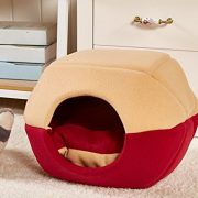 Fund-Foams-Pet-Beds-Cotton-Soft-Private-Mongolian-Yurt-Dog-Cat-Pet-Home-House-50x40x35cm-Red-0-0
