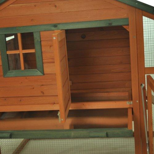 Pawhut Wooden Backyard Slant Roof Hen House Chicken Coop The Pet