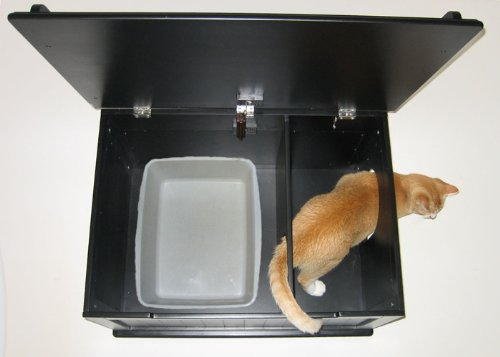 Designer-Catbox-Litter-Box-Enclosure-in-Black-0-3